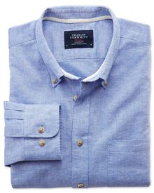 Slim fit mid blue shirt