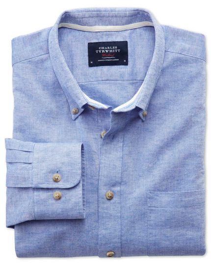 Slim fit mid blue shirt