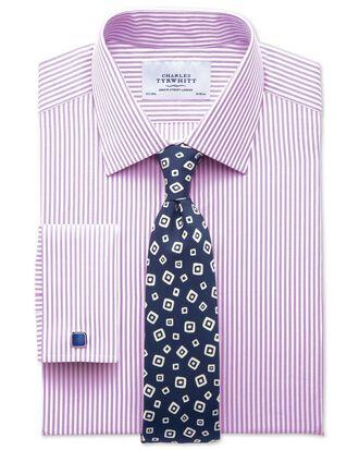 Slim fit bengal stripe lilac shirt