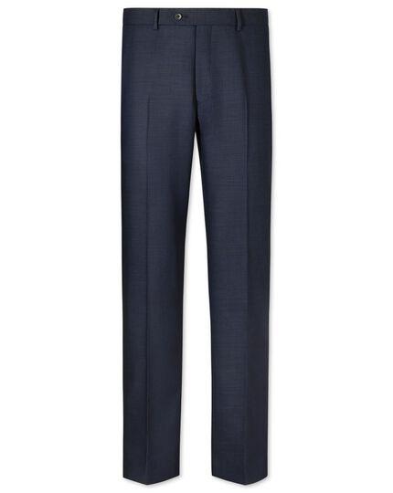 Navy slim fit crowsfoot business suit pants
