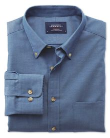 Classic fit blue non-iron twill shirt