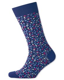 Navy geometric socks