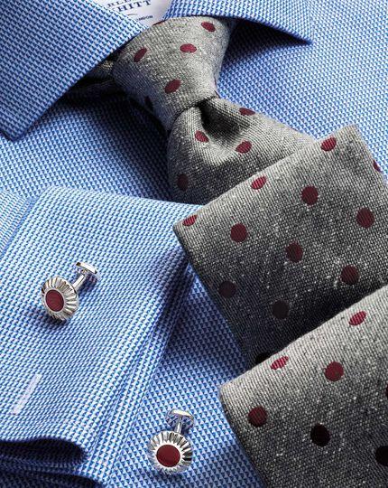 Grey silk fleck luxury tie
