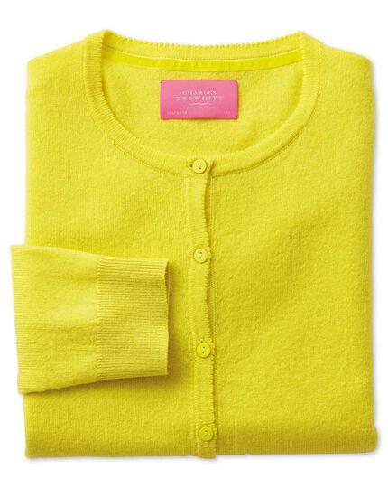 Yellow merino cashmere cardigan