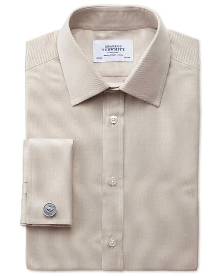 Slim fit Oxford stone shirt