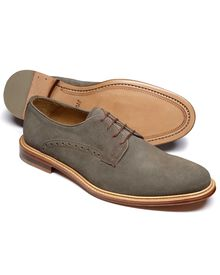 Grey Lambourne suede Derby shoes