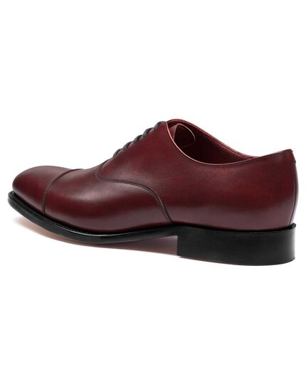 Burgundy Heathcote calf leather toe cap Oxford shoes