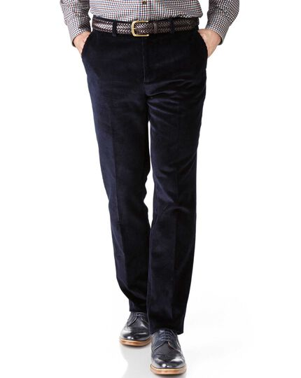 Navy slim fit jumbo cord trouser