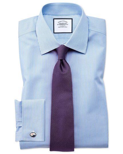 Purple silk plain classic tie