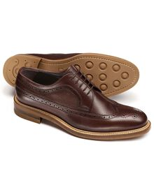 Brown Tavistock wingtip brogue  shoes