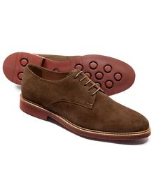 Brown Truscott suede Plain Derby shoe