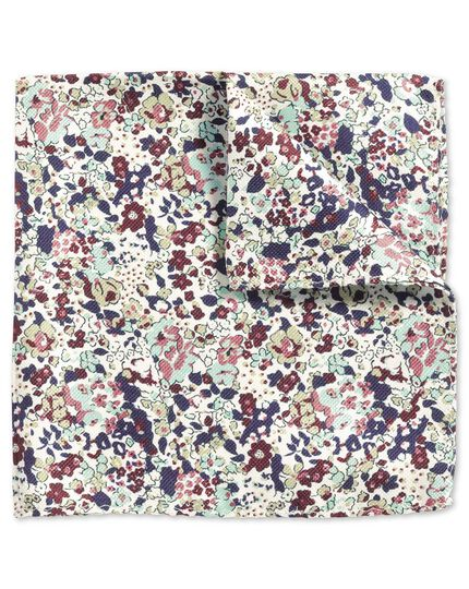 Multi classic printed floral pocket square