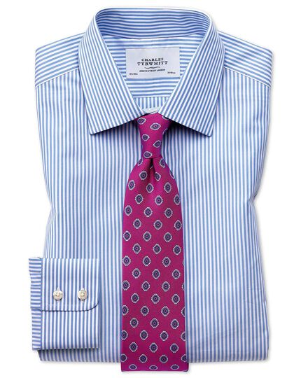 Classic fit bengal stripe sky blue shirt