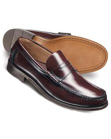 Wine Hatton penny loafers