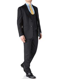 Charcoal classic fit herringbone business suit