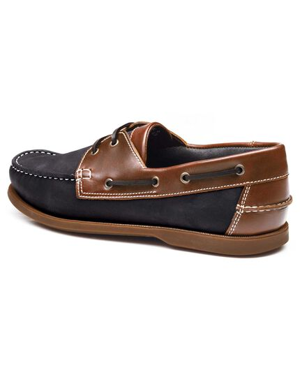 Navy Lavenham boat shoes