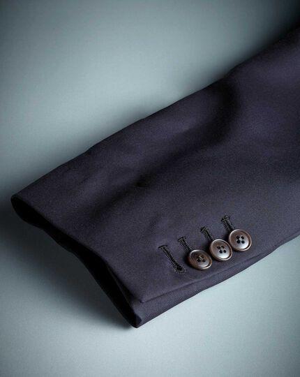 Navy slim fit Italian twill luxury suit jacket