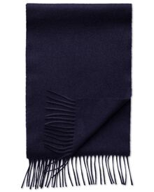 Navy cashmere and merino scarf