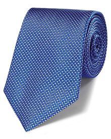 Blue silk classic natte tie
