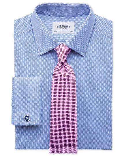 Fuchsia silk classic diamond lattice tie
