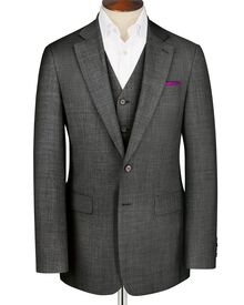 Grey classic fit sharkskin suit