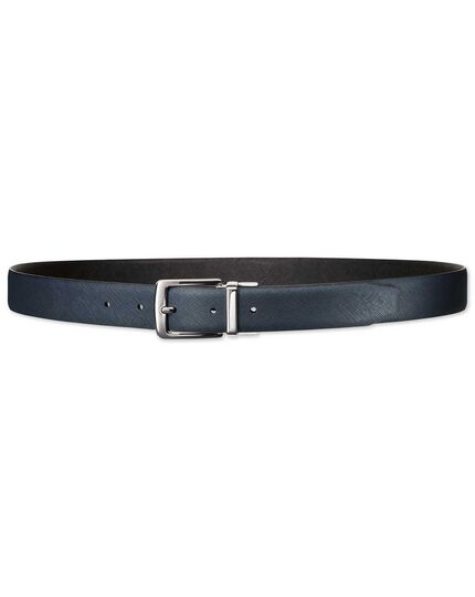 Black and navy reversible belt