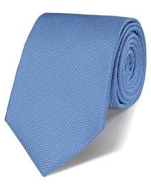 Sky silk classic plain tie