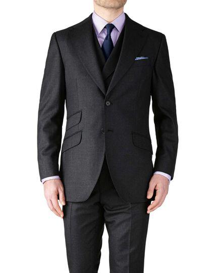 Slim Fit Luxusanzug Sakko aus Britisch-Panama-Gewebe in anthrazit