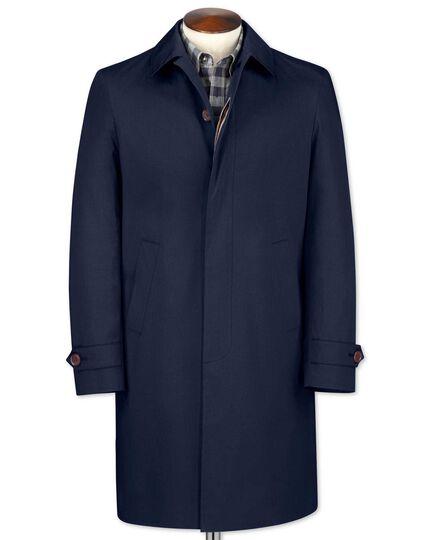 Classic fit blue raincoat