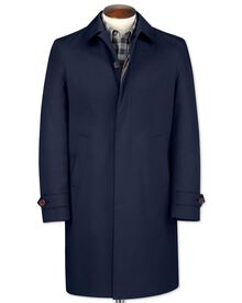 Slim fit blue raincoat
