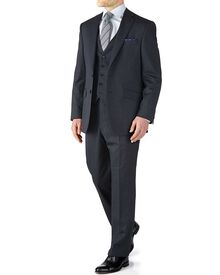 Navy classic fit end-on-end business suit