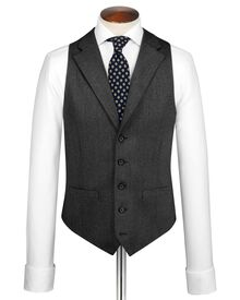 Grey saxony business suit vest