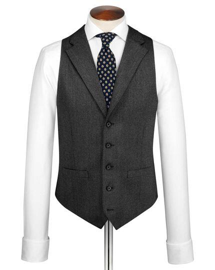 Grey saxony business suit waistcoat