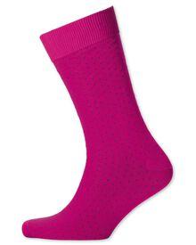 Pink micro dash socks