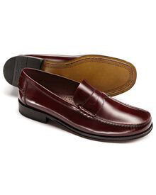 Ox blood Finsbury penny loafers