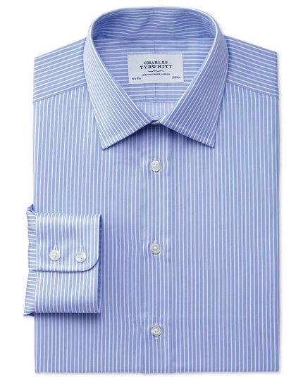 Classic fit Egyptian cotton stripe blue shirt