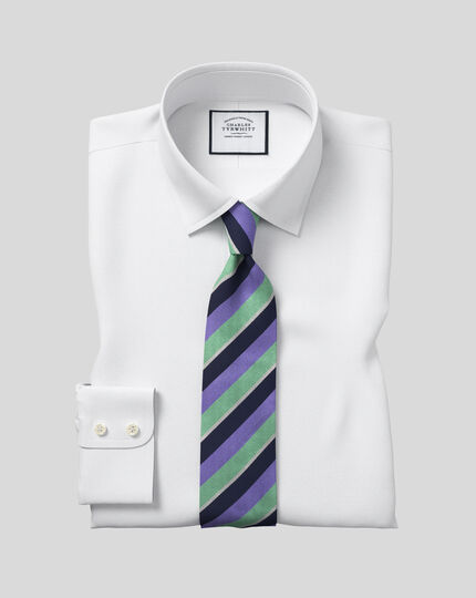 Slim fit Egyptian cotton poplin white shirt