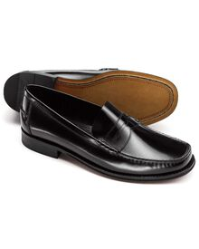 Black Finsbury penny loafers