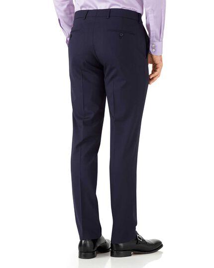 Navy blue slim fit performance suit trousers