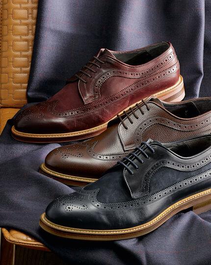 Brown Tavistock wingtip brogue shoes