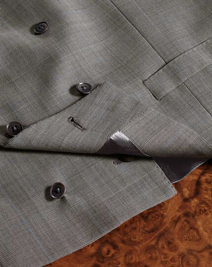 Verstellbare italienische Luxus Anzug Weste in Silber