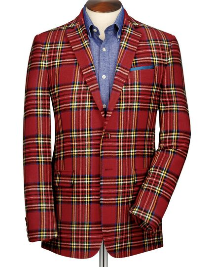 Red check slim fit royal Stewart jacket