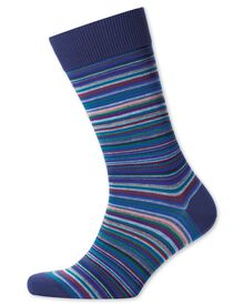 Blue multi stripe socks
