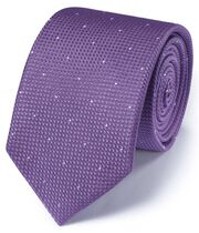 Lilac silk classic textured dash tie