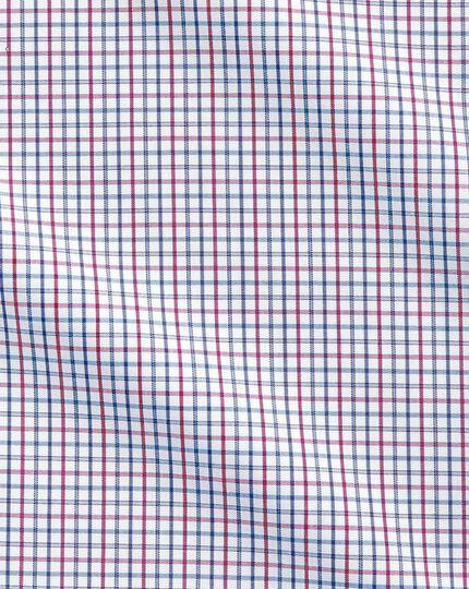 Bügelfreies Extra Slim Fit Hemd in Bunt mit Gitterkaros