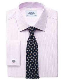 Extra slim fit Pima cotton double-faced light pink shirt