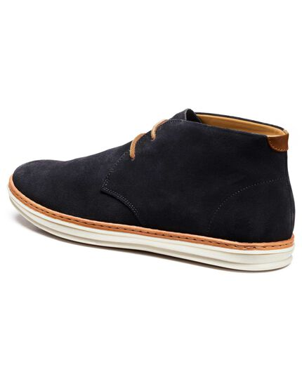 Navy Penrose high top trainers