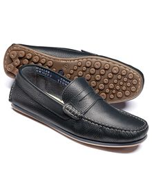 Navy Wanson loafers