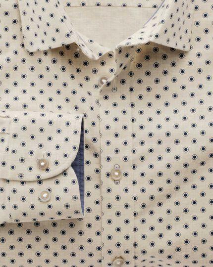 Slim fit stone spot print shirt