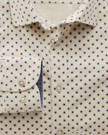 Extra slim fit stone spot print shirt